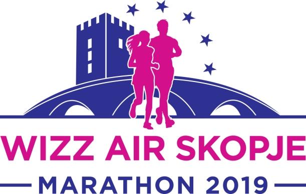 Logo Wizz Air Skopje Marathon 2019-1